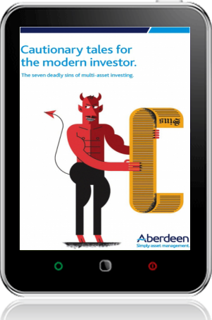 Cover of Cautionary tales for the modern investor on Tablet by Aberdeen Asset Management