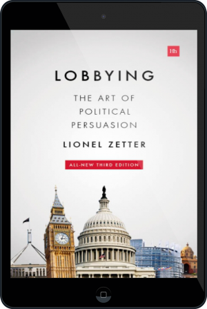 Cover of Lobbying on Tablet by Lionel Zetter