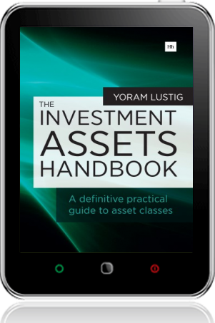 Cover of The Investment Assets Handbook on Tablet by Yoram Lustig