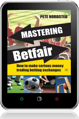 Cover of Mastering Betfair on Tablet by Pete Nordsted