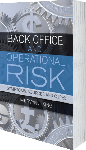 Cover of Back Office and Operational Risk (Paperback) by Mervyn J. King