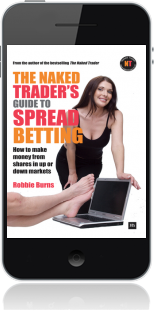 Cover of The Naked Trader's Guide to Spread Betting on Mobile by Robbie Burns