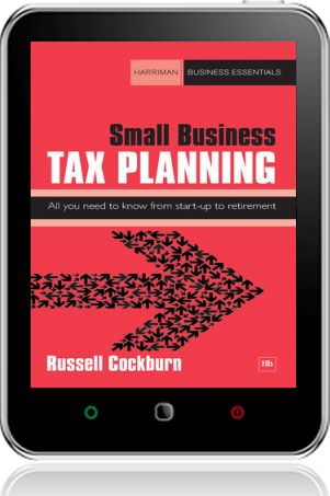 Cover of Small Business Tax Planning on Tablet by Russell Cockburn