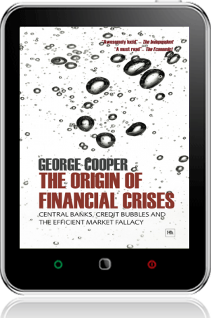 Cover of The Origin of Financial Crises on Tablet by George Cooper