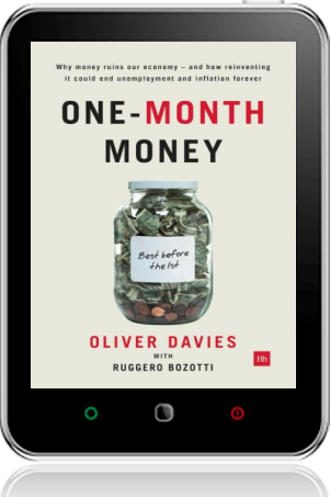 Cover of One-Month Money on Tablet by Oliver Davies