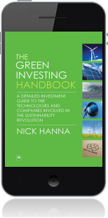 Cover of The Green Investing Handbook on Mobile by Nick Hanna
