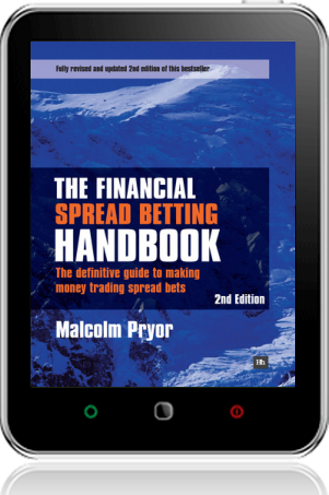 Cover of The Financial Spread Betting Handbook on Tablet by Malcolm Pryor