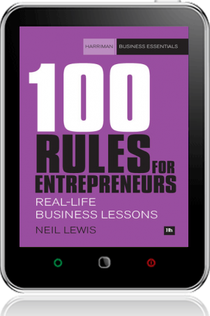 Cover of 100 Rules For Entrepreneurs on Tablet by Neil Lewis