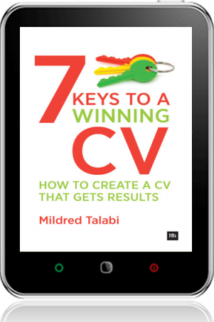 Cover of 7 Keys to a Winning CV on Tablet by Mildred Talabi