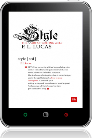 Cover of Style on Tablet by F. L. Lucas