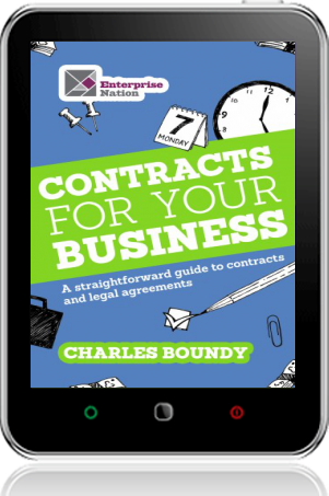 Cover of Contracts for Your Business on Tablet by Charles Boundy