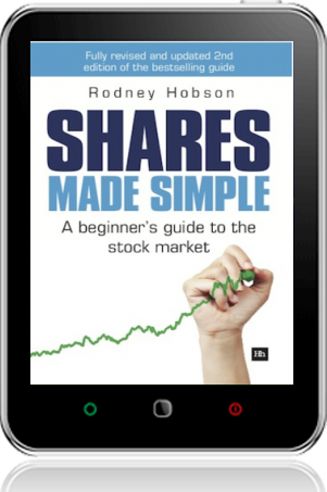 Cover of Shares Made Simple on Tablet by Rodney Hobson