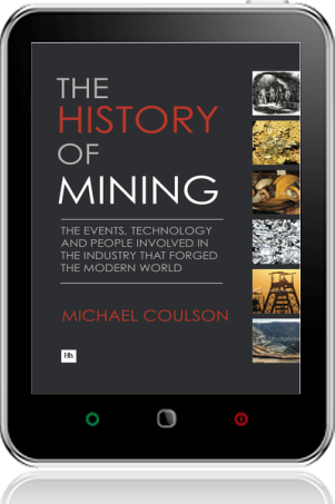 Cover of The History of Mining on Tablet by Michael Coulson
