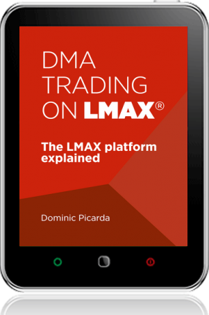 Cover of DMA Trading on LMAX on Tablet by Dominic Picarda