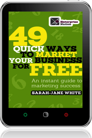 Cover of 49 Quick Ways to Market your Business for Free (Tablet)