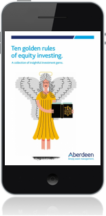Cover of Ten Golden Rules of Equity Investing on Mobile by Hugh Young