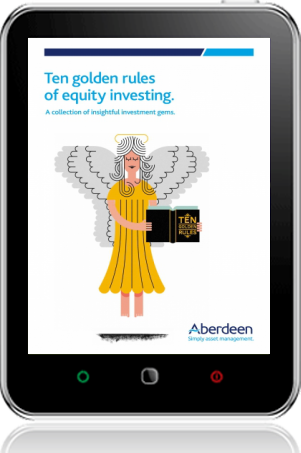 Cover of Ten Golden Rules of Equity Investing on Tablet by Hugh Young