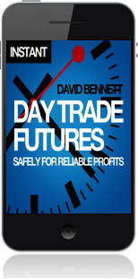 Cover of Day Trade Futures Safely For Reliable Profits on Mobile by David Bennett