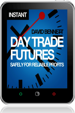 Cover of Day Trade Futures Safely For Reliable Profits on Tablet by David Bennett