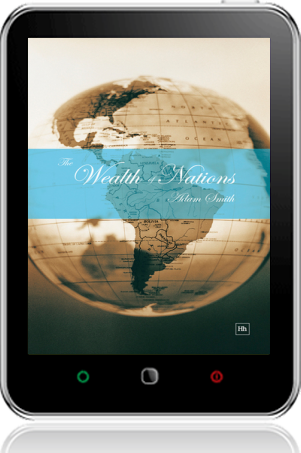 Cover of The Wealth of Nations on Tablet by Adam Smith