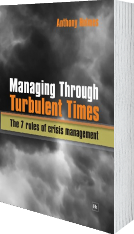 Cover of Managing Through Turbulent Times (Paperback) by Anthony Holmes