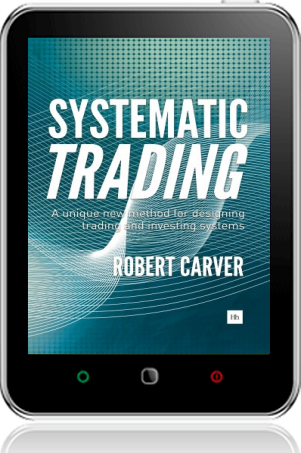 Cover of Systematic Trading on Tablet by Robert Carver