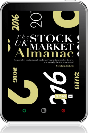 Cover of The UK Stock Market Almanac 2016 (Tablet)