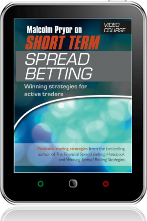 Cover of Malcolm Pryor on Short-Term Spread Betting - VIDEO COURSE on Tablet by Malcolm Pryor