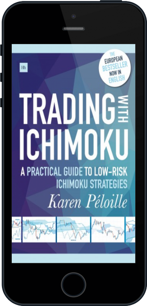 Cover of Trading with Ichimoku on Mobile by Karen Péloille