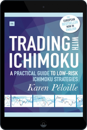 Cover of Trading with Ichimoku on Tablet by Karen Péloille