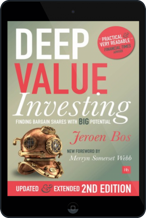 Cover of Deep Value Investing on Tablet by Jeroen Bos
