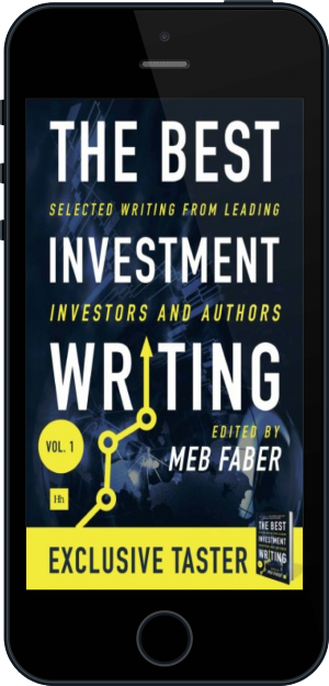 Cover of The Best Investment Writing Sampler on Mobile by Meb Faber