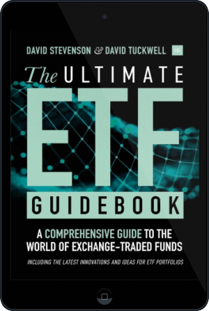 Cover of The ETFs Handbook on Tablet by David Stevenson and David Tuckwell