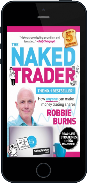 Cover of The Naked Trader on Mobile by Robbie Burns
