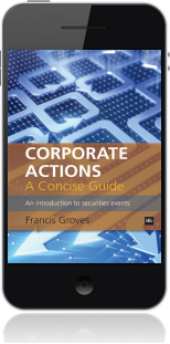 Cover of Corporate Actions - A Concise Guide on Mobile by Francis Groves