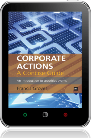 Cover of Corporate Actions - A Concise Guide on Tablet by Francis Groves