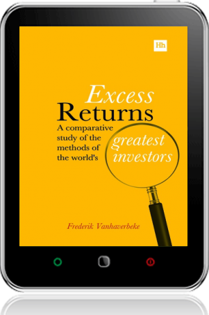 Cover of Excess Returns on Tablet by Frederik Vanhaverbeke