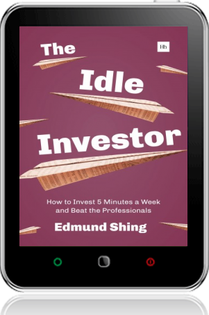 Cover of The Idle Investor on Tablet by Edmund Shing