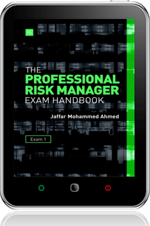Cover of The Professional Risk Manager Exam Handbook on Tablet by Jaffar Mohammed Ahmed